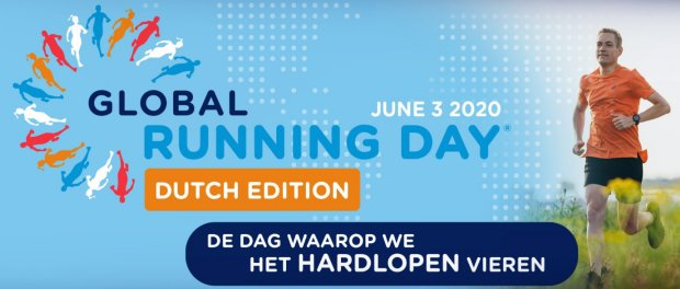 Op 3 juni 2020 is het Global Running Day!